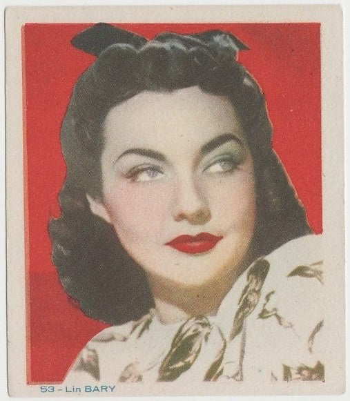 Lynn Bari Late 1930s Colorful Paper Stock Trading Card #53 Blue Text
