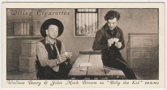 Wallace Beery + John Mack Brown  1931 Wills Cinema Stars Trading Card #6