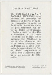 Don Galloway 1971 FHER Galeria de Artistas Trading Card #68