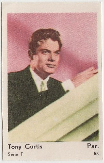 Tony Curtis 1958 Film Star PAPER STOCK Dutch Gum Trading Card #68