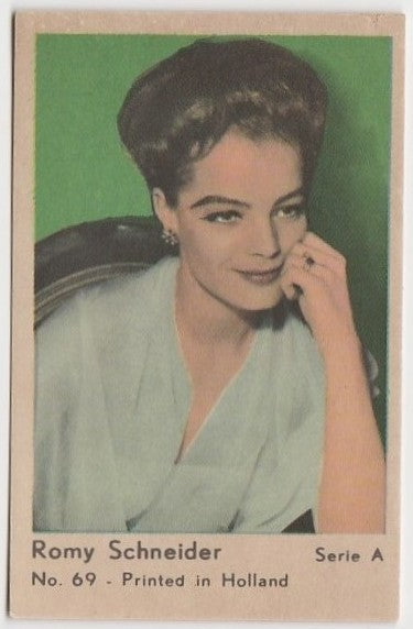 Romy Schneider 1964 Dutch Gum Trading Card from Greece A #69