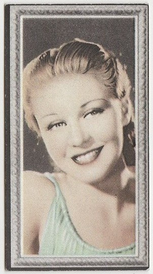 Ginger Rogers 1936 Godfrey Phillips Stars of the Screen Trading Card #7