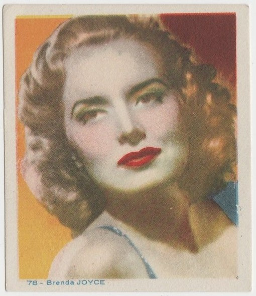 Brenda Joyce Late 1930s Colorful Paper Stock Trading Card #78 Blue Text