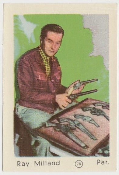 Ray Milland 1952 Maple Leaf Gum Film Star Paper Stock Trading Card #78