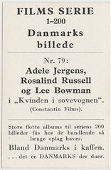 Rosalind Russell + Adele Jergens 1948 Danmarks Film Star Trading Card #79