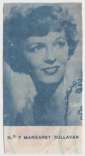 Margaret Sullavan 1940s Caramelos Tio Pepote PAPER STOCK Trading Card #7