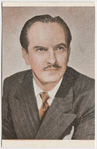 Fredric March vintage 1948 Danmarks Film Star Trading Card #81