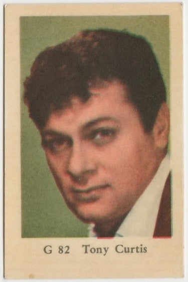 TONY CURTIS 1960s Dutch Gum TRADING CARD from Sweden #G-82