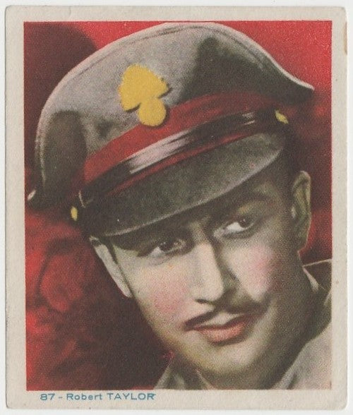 Robert Taylor Late 1930s Colorful Paper Stock Trading Card #87 Blue Text