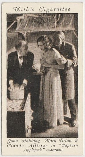 John Halliday + Mary Brian 1931 Wills Cinema Stars Trading Card #10