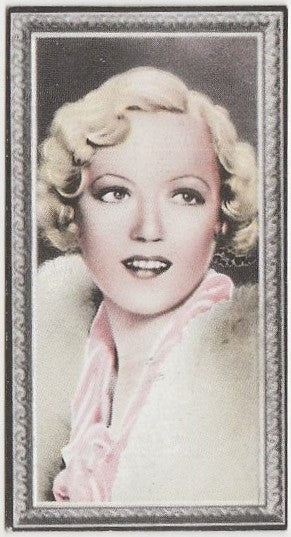 Marion Davies 1936 Godfrey Phillips Stars of the Screen Trading Card #11