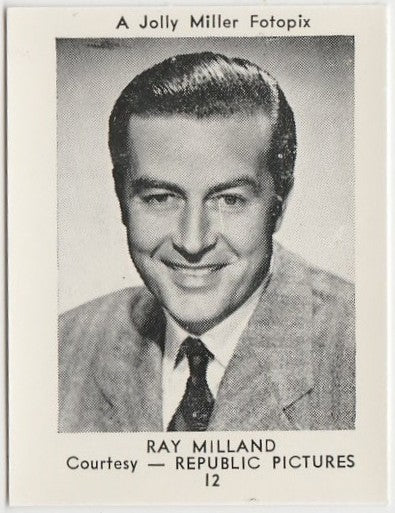 Ray Milland 1955 Jolly Miller Fotopix Trading Card #12