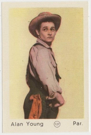 Alan Young 1952 Maple Leaf Gum Film Star Paper Stock Trading Card #127
