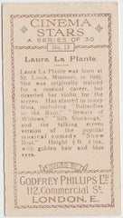 Laura La Plante vintage 1929-33 Godfrey Phillips Cinema Stars Trading Card #13