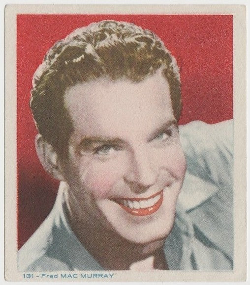 Fred MacMurray Late 1930s Colorful Paper Stock Trading Card #131 Blue Text