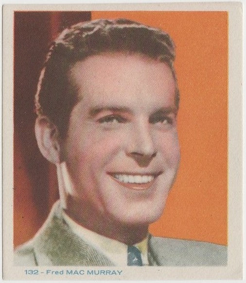 Fred MacMurray Late 1930s Colorful Paper Stock Trading Card #132 Blue Text