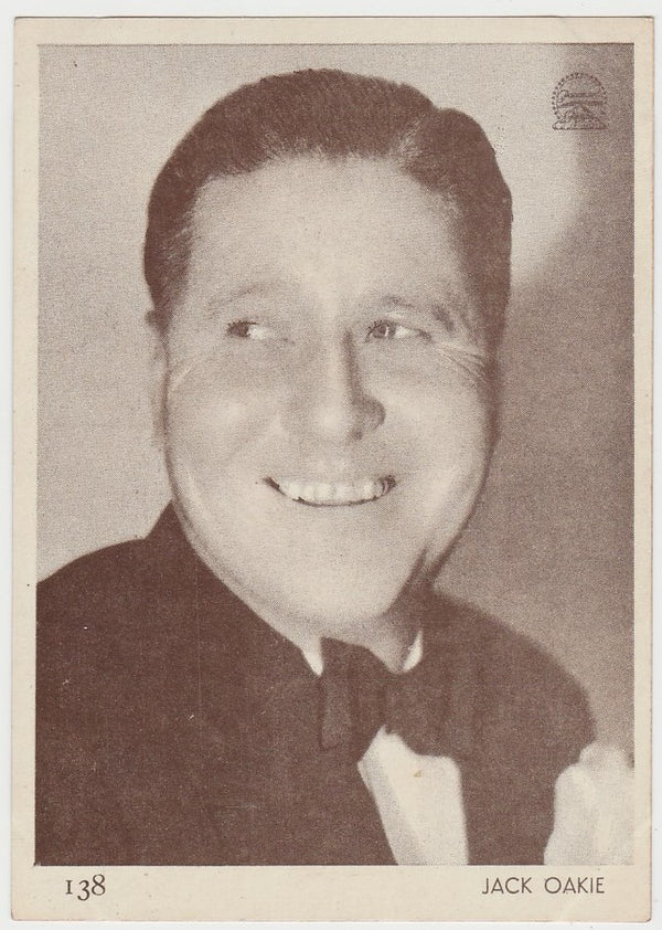 Jack Oakie 1930s Aguila Large Paper Stock Trading Card #138