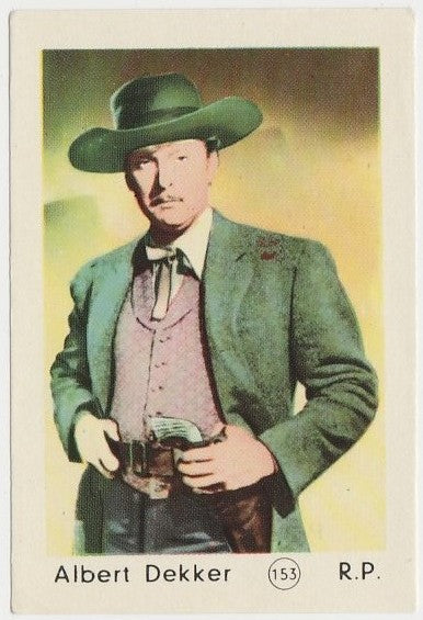 Albert Dekker 1952 Maple Leaf Gum Film Star Paper Stock Trading Card #153
