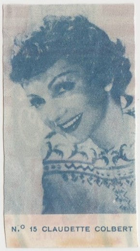 Claudette Colbert 1940s Caramelos Tio Pepote PAPER STOCK Trading Card #15