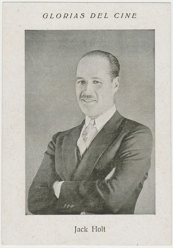 Jack Holt 1920s Glorias Del Cine Paper Stock Trading Card #A-18
