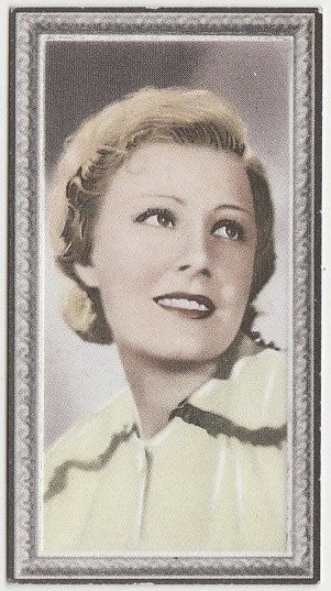 Irene Dunne 1936 Godfrey Phillips Stars of the Screen Trading Card #19