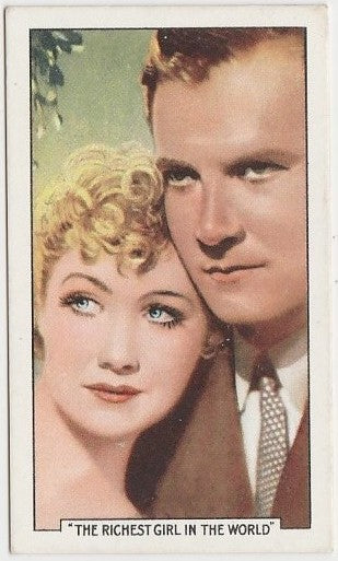 Joel McCrea + Miriam Hopkins 1935 Gallaher Famous Film Scenes Trading Card #19