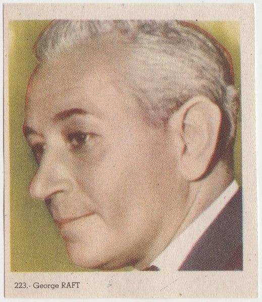 George Raft 1940s Colorful Paper Stock Trading Card #223 Black Text
