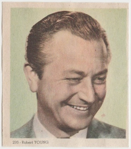 Robert Young 1940s Colorful Paper Stock Trading Card #235 Black Text