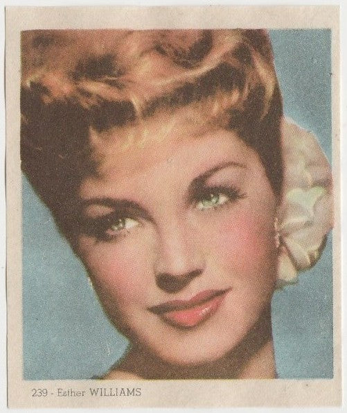 Esther Williams 1940s Colorful Paper Stock Trading Card #239 Black Text