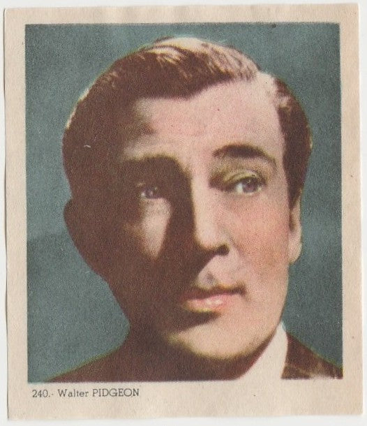 Walter Pidgeon 1940s Colorful Paper Stock Trading Card #240 Black Text