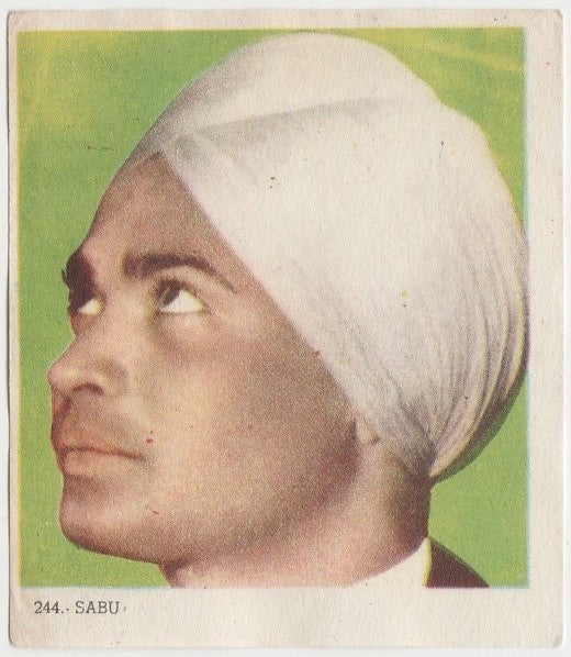 Sabu 1940s Colorful Paper Stock Trading Card #244 Black Text