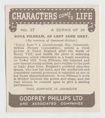 Nova Pilbeam 1938 Godfrey Phillips Characters Come to Life Trading Card #27