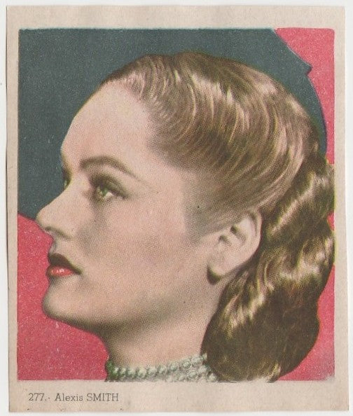 Alexis Smith 1940s Colorful Paper Stock Trading Card #277 Black Text