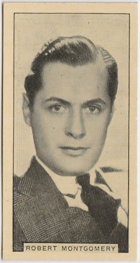 Robert Montgomery 1932 BAT Cinema Artistes Trading Card #28