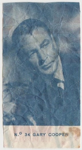 Gary Cooper 1940s Caramelos Tio Pepote PAPER STOCK Trading Card #34