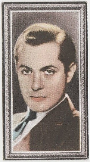 Robert Montgomery 1936 Godfrey Phillips Stars of the Screen Trading Card #36