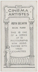Ruth Selwyn 1932 BAT Cinema Artistes Trading Card #40