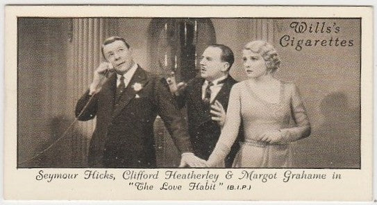 Seymour Hicks + Margot Grahame 1931 Wills Cinema Stars Trading Card #42