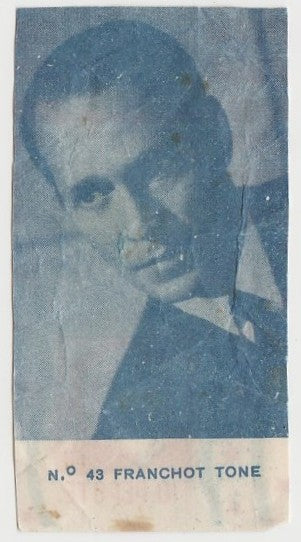 Franchot Tone 1940s Caramelos Tio Pepote PAPER STOCK Trading Card #43