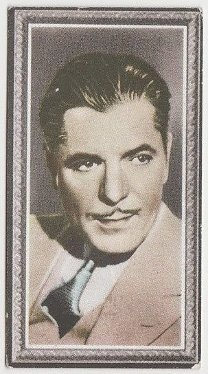 Warner Baxter 1936 Godfrey Phillips Stars of the Screen Trading Card #44