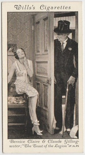 Bernice Claire + Claude Gillingwater 1931 Wills Cinema Stars Trading Card #45