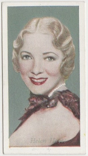 Helen Hayes 1934 Godfrey Phillips Film Favourites Trading Card #47