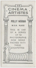 Polly Moran 1932 BAT Cinema Artistes Trading Card #48