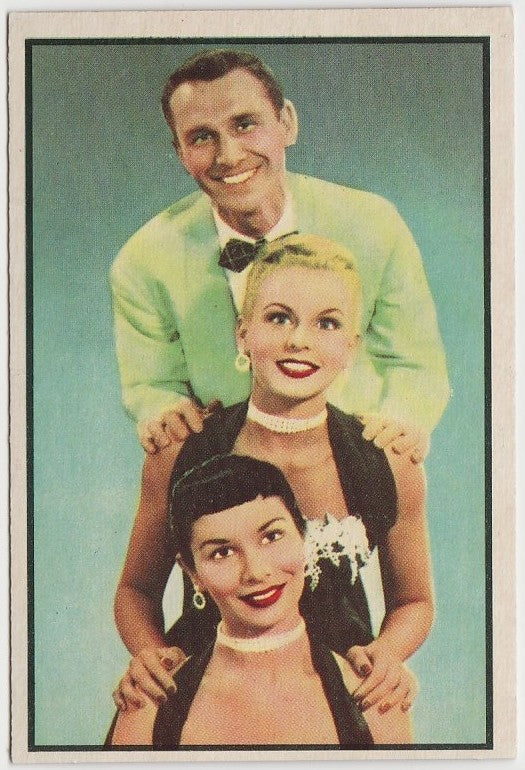 Hamilton Trio 1953 BOWMAN Television and Radio Stars of NBC Trading Card #66