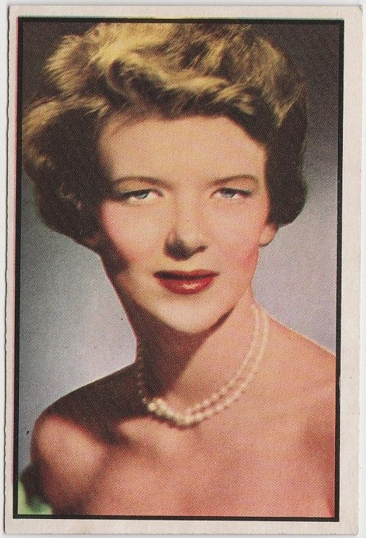 Sallie Brophy 1953 BOWMAN Television and Radio Stars of NBC Trading Card #86