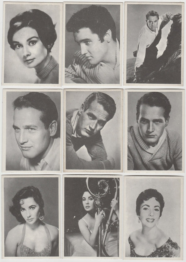 Near Set 98/100 Rare 1959 MGM FILM STARS TRADING CARDS from Italy