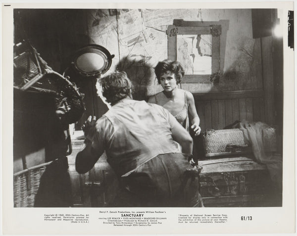 Lee Remick as Temple Drake on 1961 STILL PHOTO for Faulkner's Sanctuary 31-61
