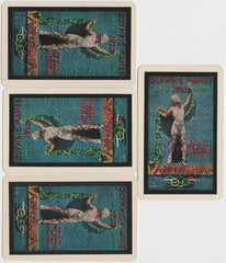 Lot of all 4 Aces from 1932 PG Wenger LA Olympics Playing Card Deck - 4 cards
