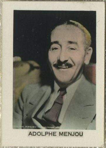 Adolphe Menjou 1932 Orami Film Photos Series D Tobacco Card #357