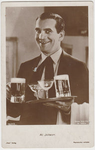 Al Jolson 1930s Aguila Large Paper Stock Trading Card #123